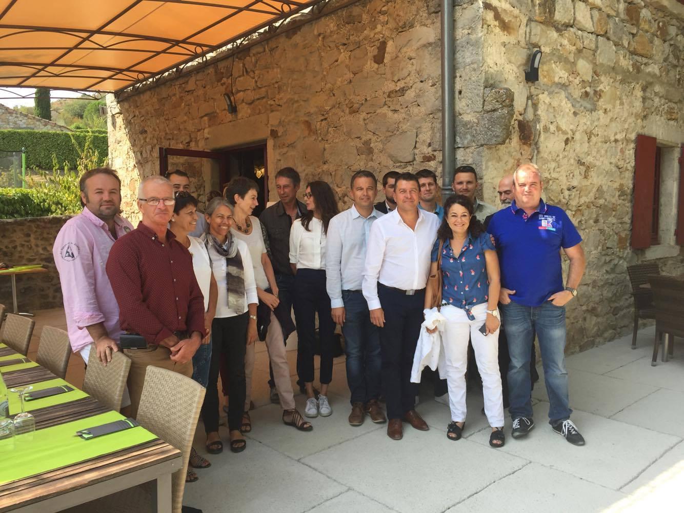 Fabrice Brun à la rencontre des acteurs du tourisme ardéchois