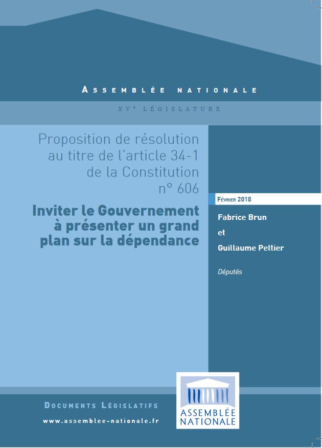 Fabrice Brun dépose une résolution parlementaire pour un grand plan dépendance