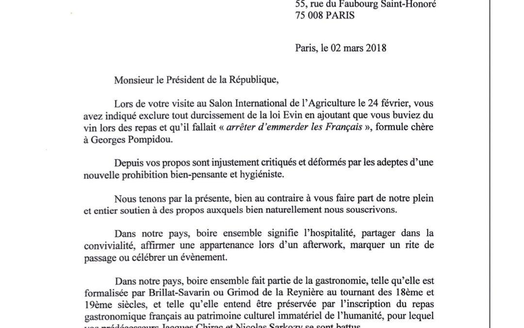 Fabrice Brun : Le vin c'est la France, et la France c'est nous ! – Lettre au Président de la République