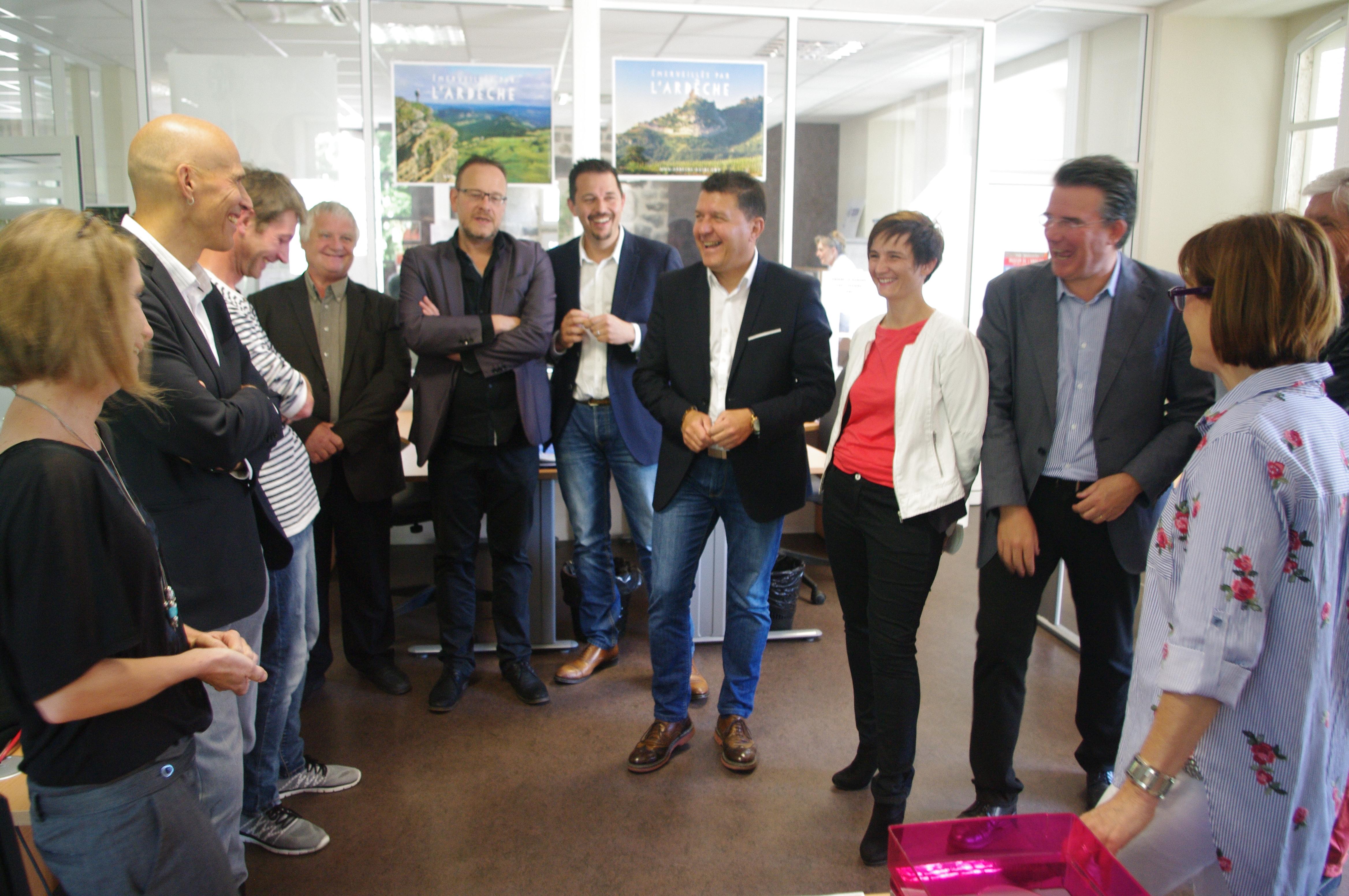Retour sur l'inauguration du campus numérique de l'EEP de Thueyts.