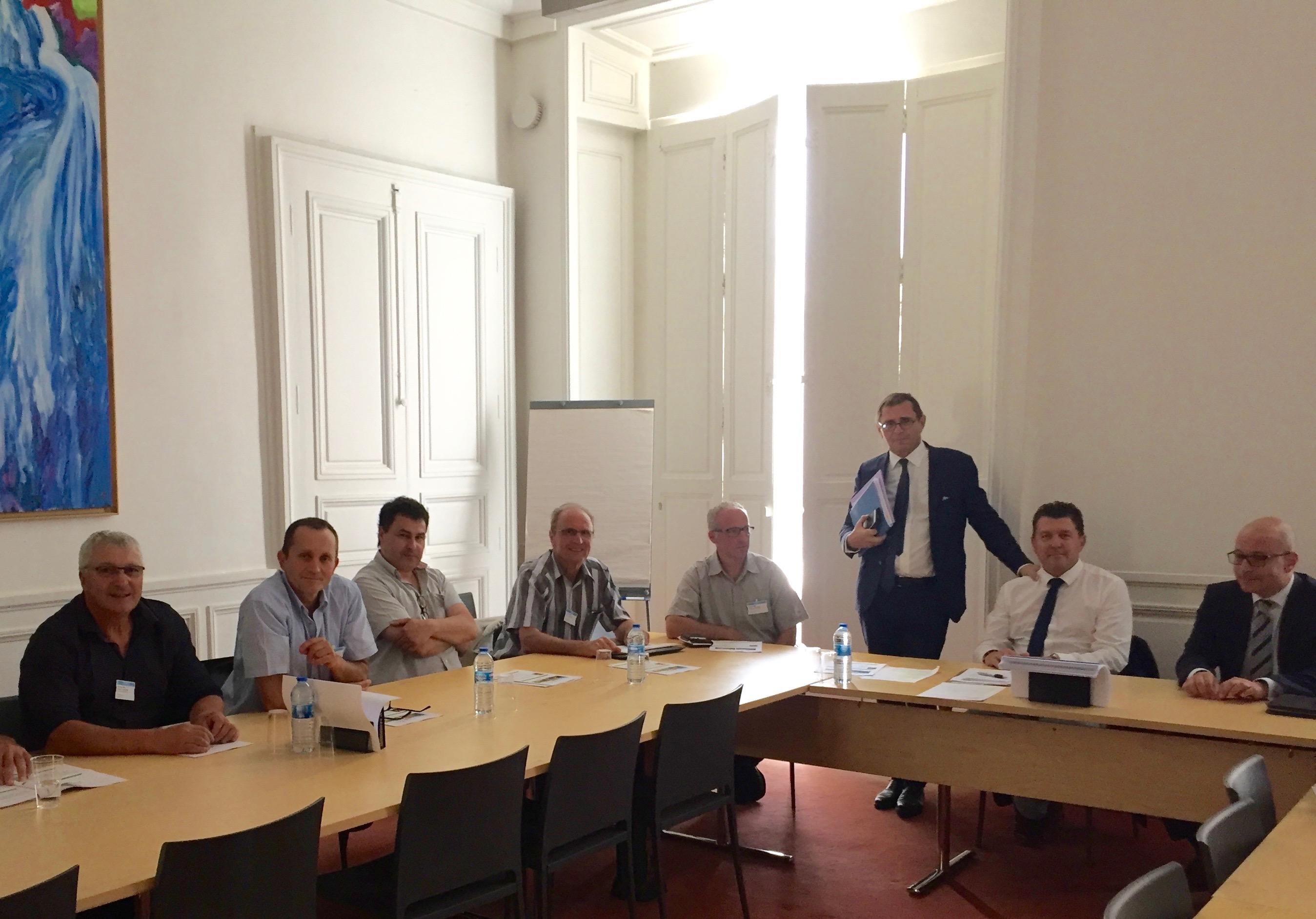 Première réunion de l'Amicale parlementaire de la Châtaigneraie à l'Assemblée Nationale.