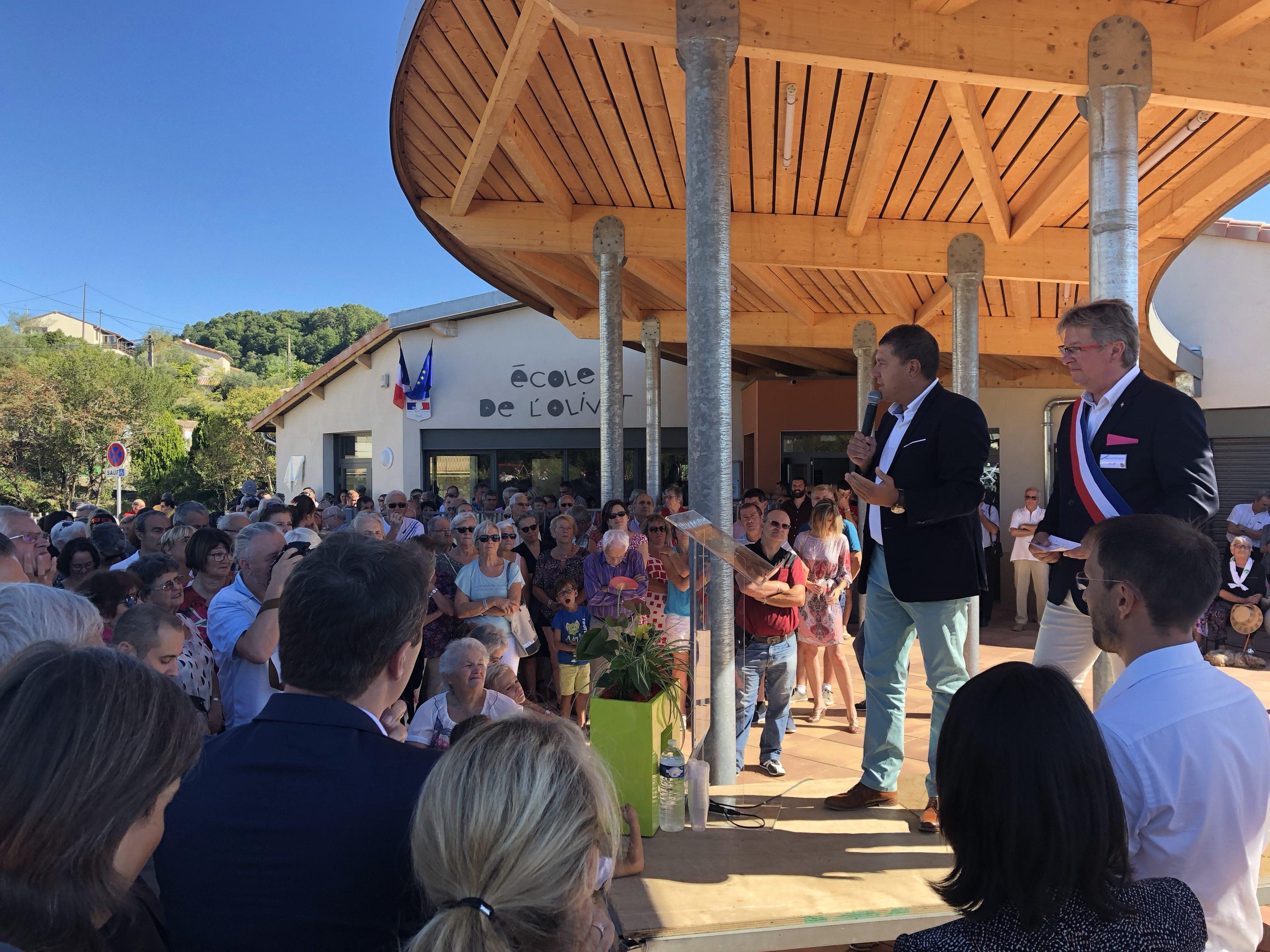 Inauguration de la nouvelle école d'Ucel