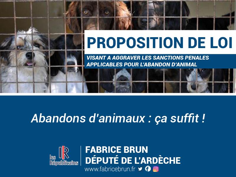 Proposition de loi : Abandon d'animaux, ça suffit !