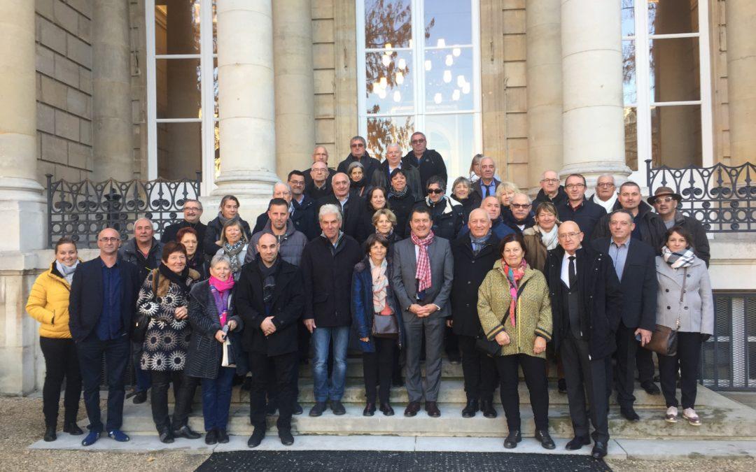 Accueil des élus ardéchois à l'occasion du Congrès des maires de France 2018