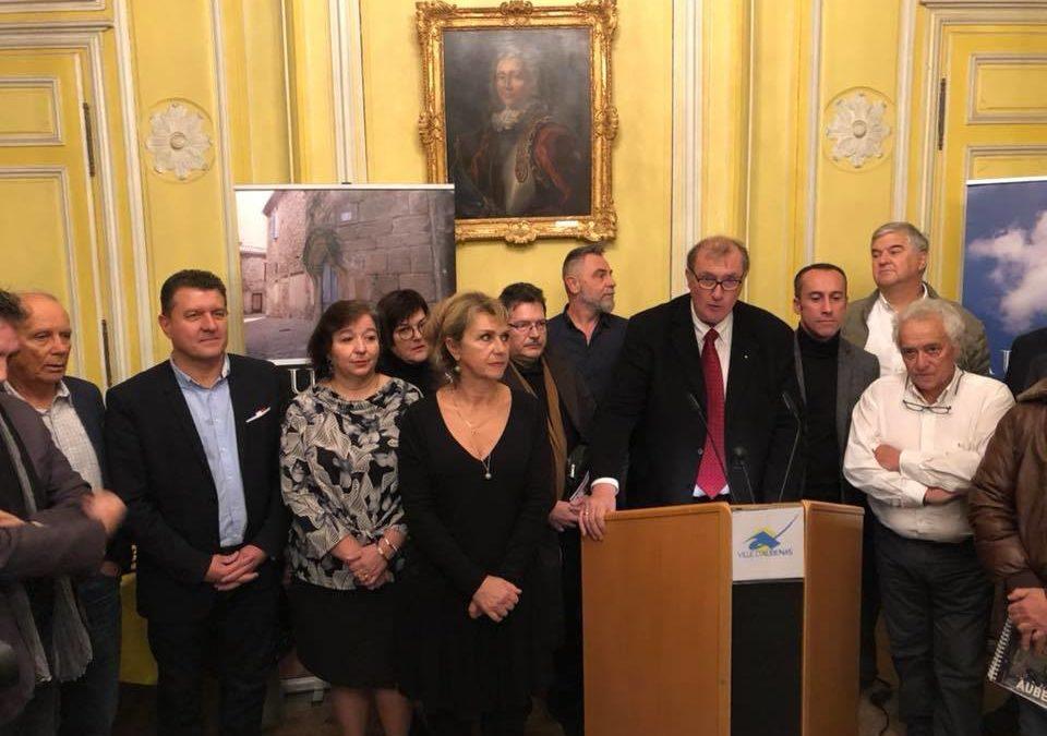 Remise des agendas de la ville d'Aubenas