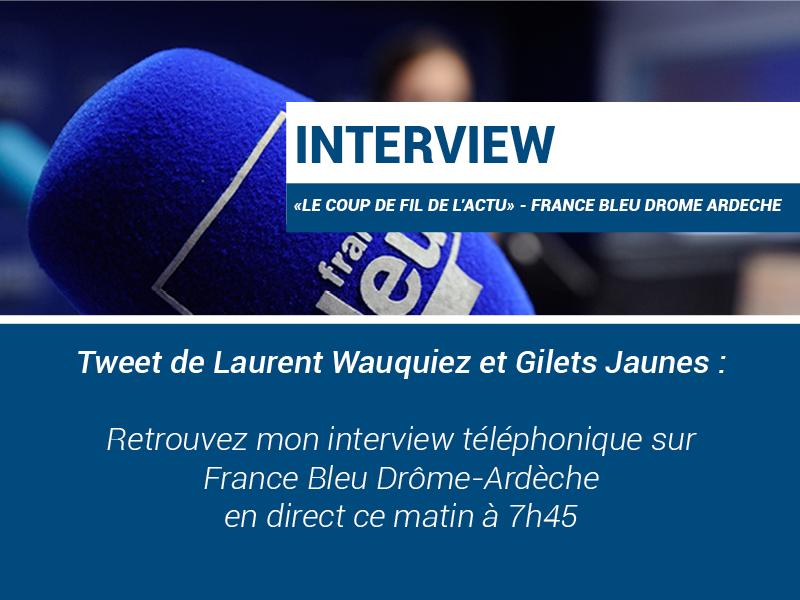 Interview radio : «Le fil de l'Actu» – France Bleu Drôme Ardèche 12/12/2018