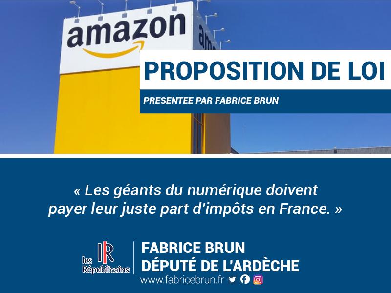 Les géants du numérique doivent payer leur juste part d'impôts en France.