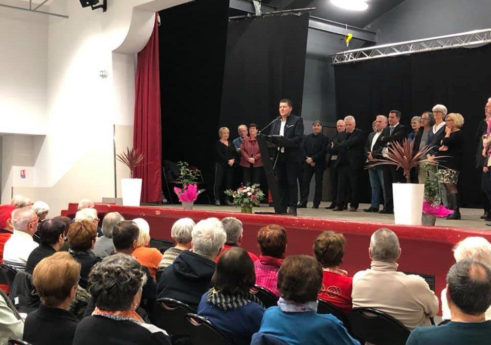 Cérémonie de voeux 2019 – Aux côtés des Ruomsois, à la veille de la reprise des travaux parlementaires.