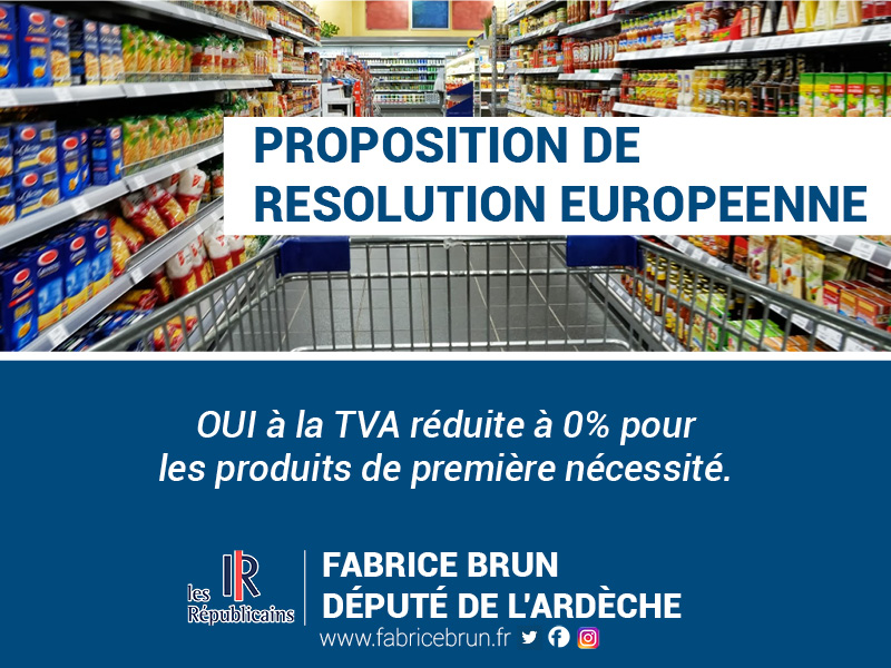 La TVA réduite à 0% pour les produits de première nécessité