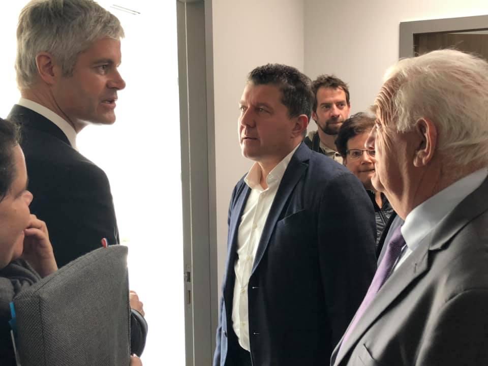 Visite du président de la Région Auvergne-Rhône-Alpes, Laurent Wauquiez, à Ruoms
