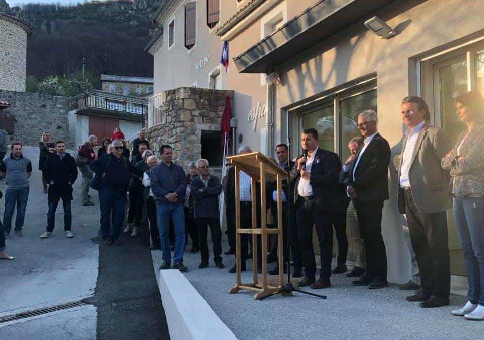 A Juvinas, au coeur de la vallée de la Besorgues, pour inaugurer le nouvel espace d'expositions et d'animations