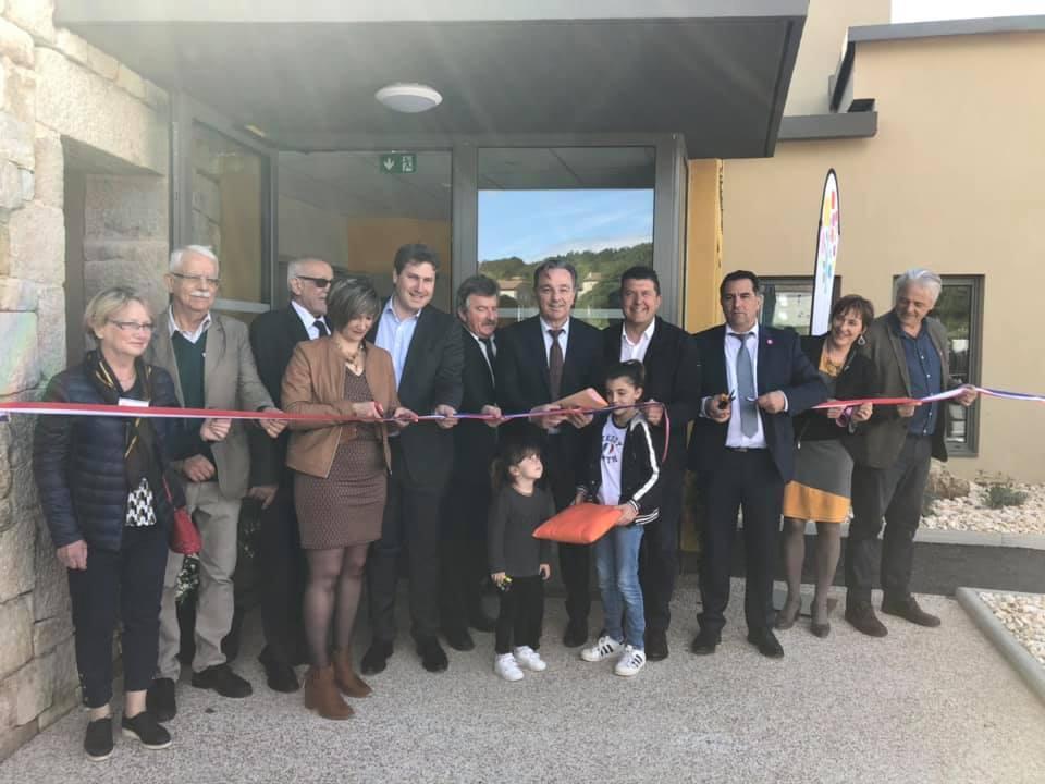 A Rosières, pour l'inauguration de la nouvelle crèche intercommunale