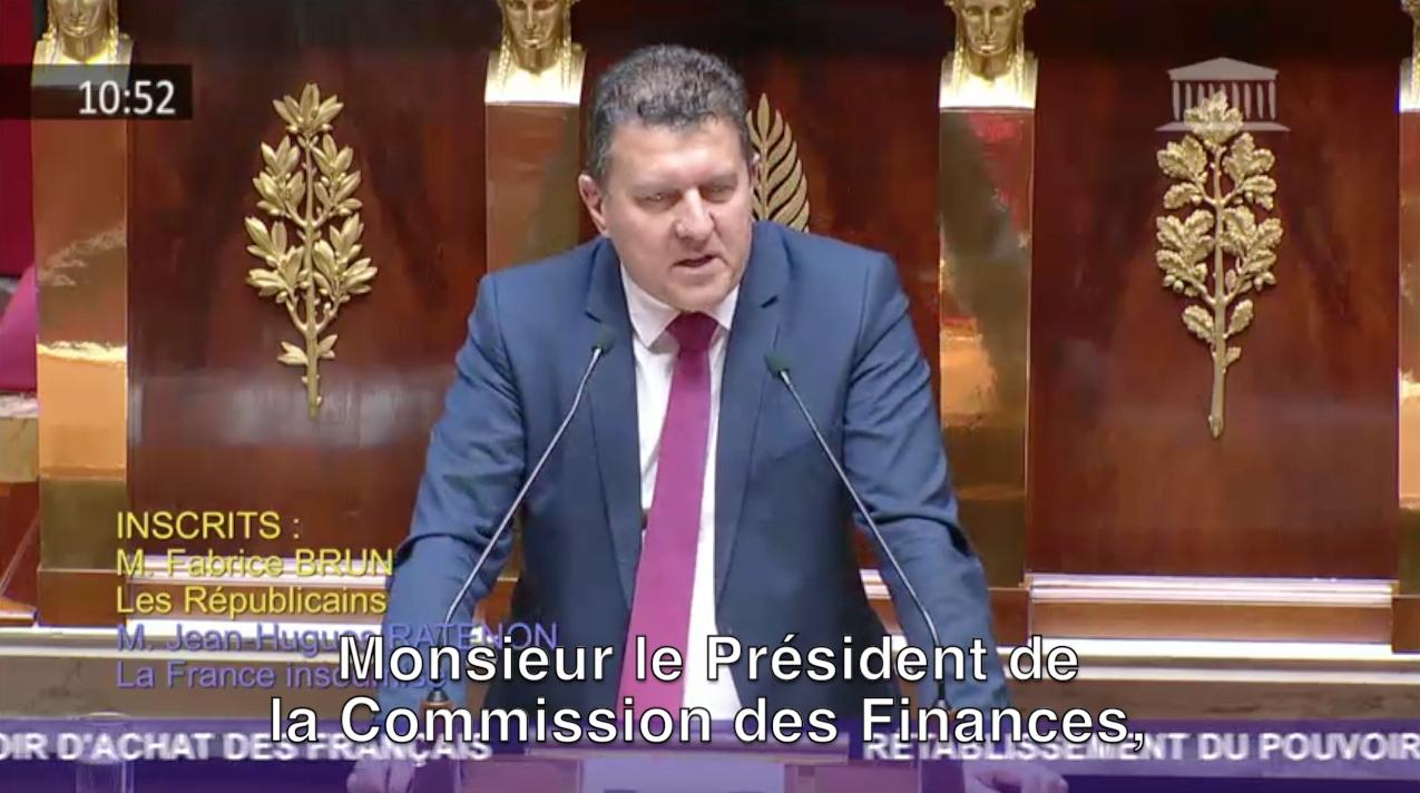 Mon intervention aujourd'hui à l'Assemblée nationale pour le rétablissement du pouvoir d'achat.