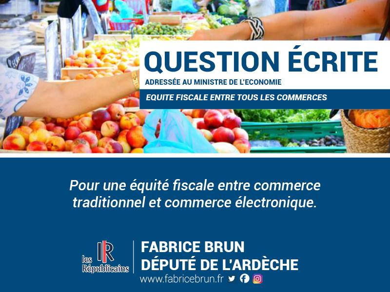 Pour une équité fiscale entre commerce traditionnel et commerce électronique.