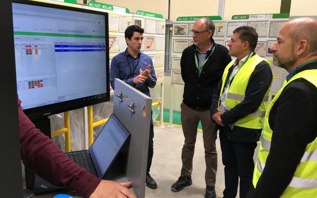 Visite de l'entreprise Schneider à Aubenas
