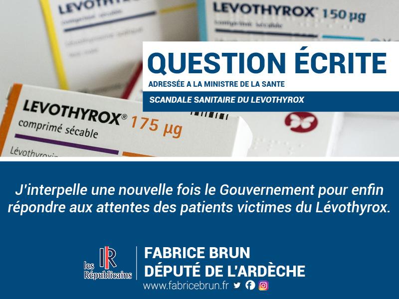 Qu'envisage le Gouvernement autour du scandale sanitaire du Lévothyrox ?