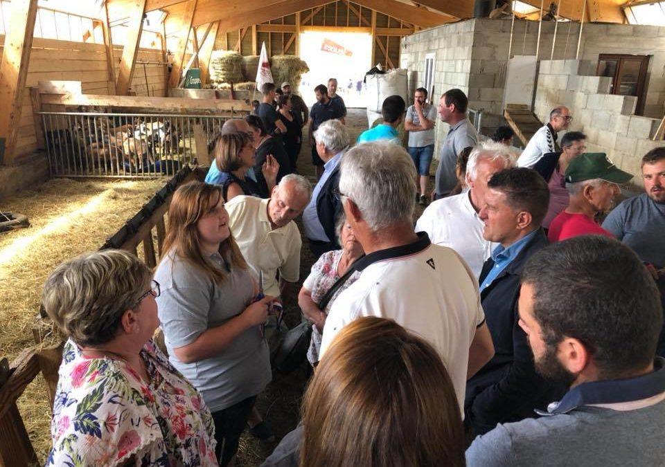 Inauguration de l'installation agricole de Pauline Lavert à Issanlas