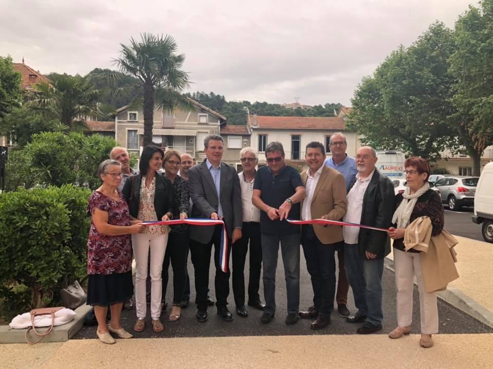 Inauguration de la place des écoles à Labégude