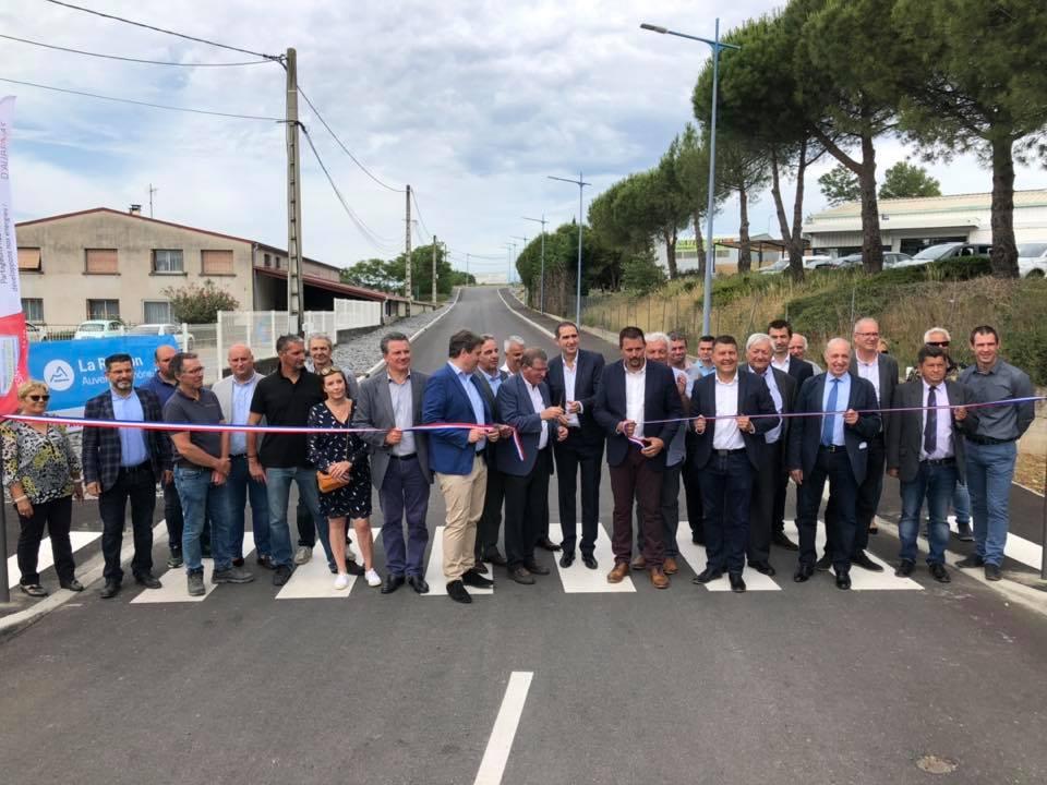 Double inauguration à Lavilledieu de la zone d'activités et du nouvel Espace de cérémonie