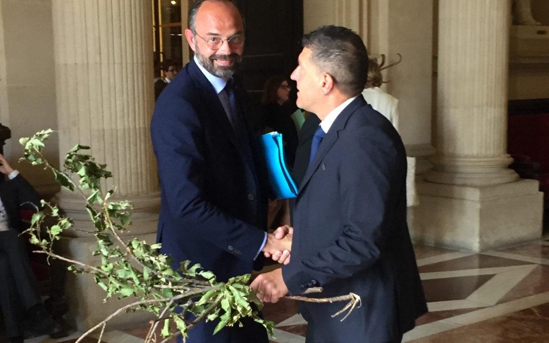 J'interpelle le Premier Ministre sur les dégâts des orages de grêle en Ardèche.
