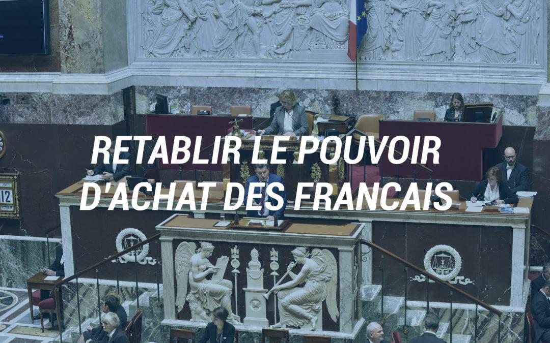 Rétablir le pouvoir d'achat des Français.