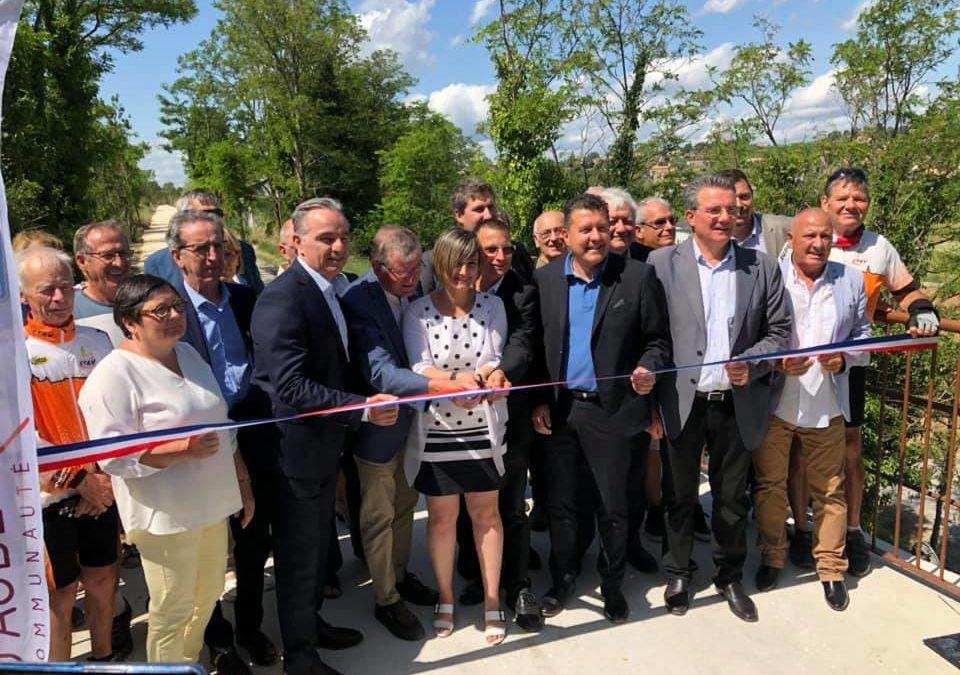 A Lachapelle-sous-Aubenas pour l'inauguration de la voie verte reliant St Sernin, Uzer, Lachapelle et Vinezac.