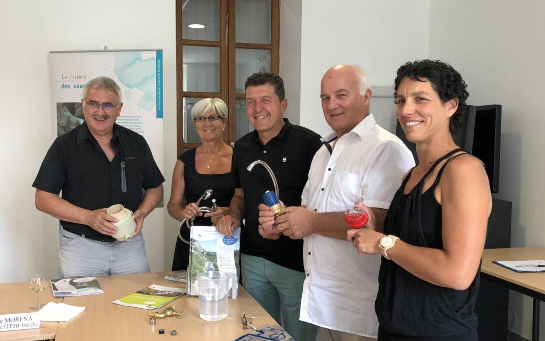 Réunion de travail avec l'EPTB autour de la politique de l'eau