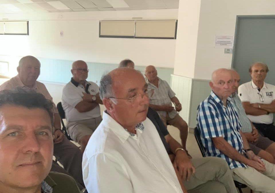 A Vogüé pour l'Assemblée générale de la Confrérie du Cep Ardéchois.