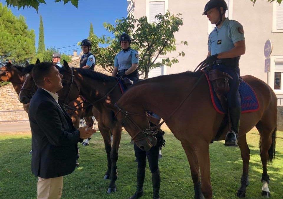 Lancement officiel du poste à cheval de la Garde Républicaine à Ruoms