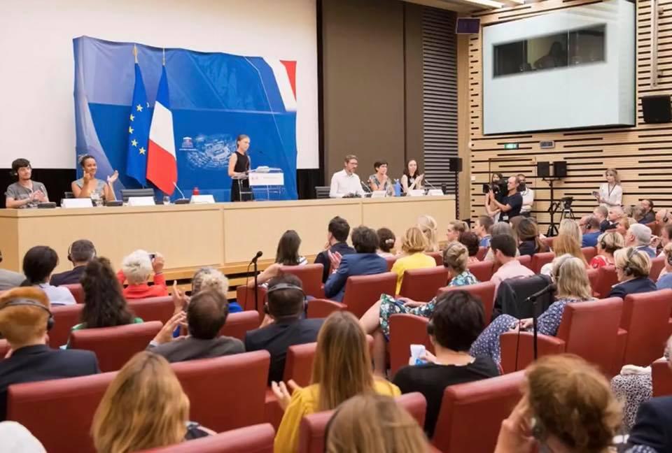 Conférence de Greta Thunberg à l'Assemblée nationale.