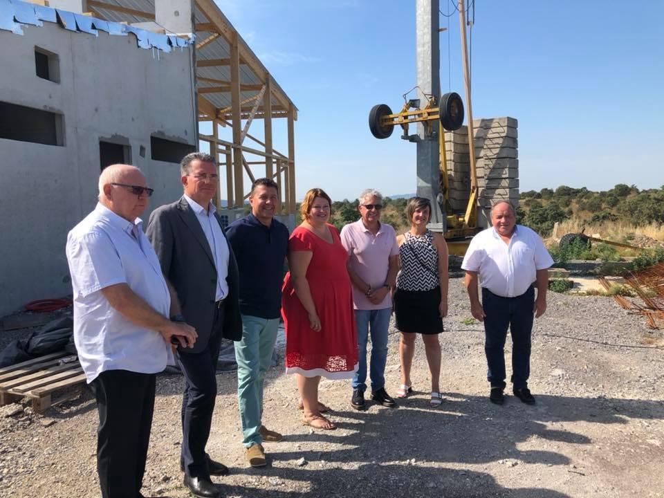 A Lanas pour visiter les chantiers en cours du CFA avec Stéphanie Pernod-Beaudon