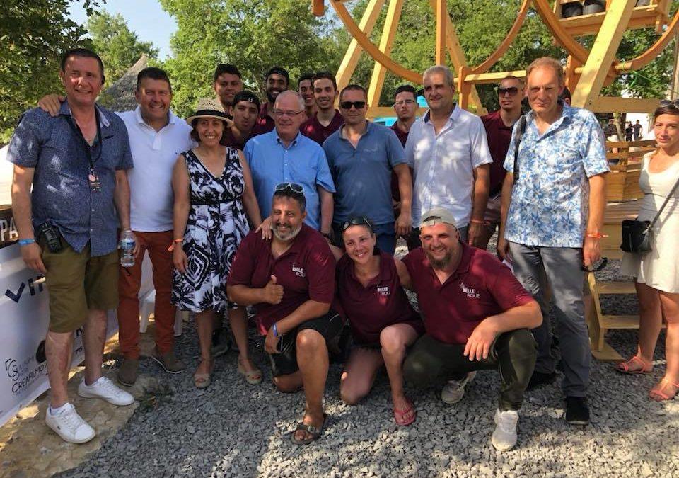 Inauguration de la Belle Roue en ouverture de l'Ardèche Aluna Festival