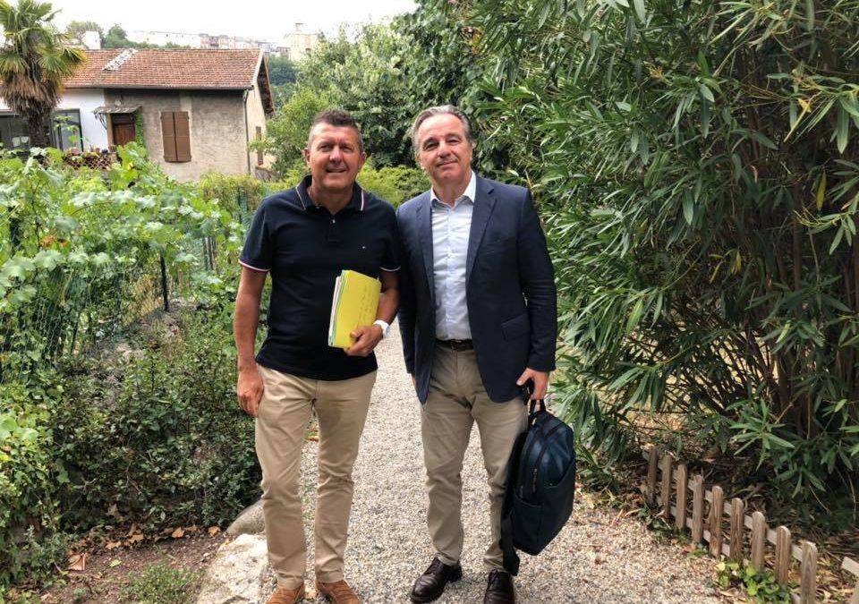 Réunion de rentrée avec Patrick Leverino, sous-préfet de Largentière