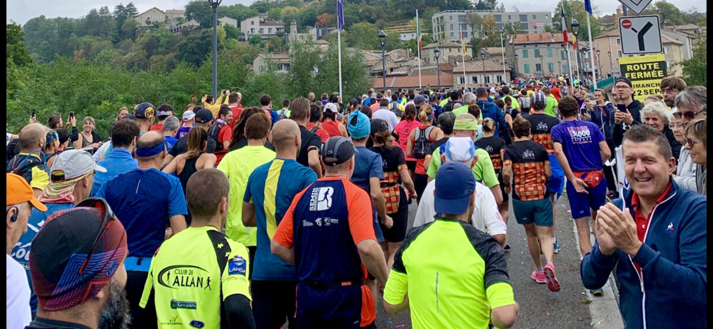 Départ de la troisième édition de l'Ardèche Run