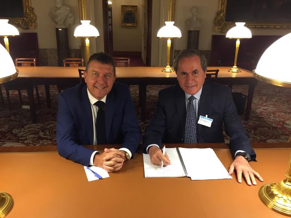 Réunion de travail avec Gérard Chaurand, vice-président de Fransylva
