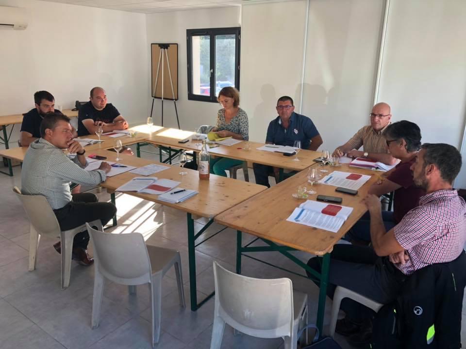 Réunion de travail avec la Chambre d'agriculture de l'Ardèche, la FDSEA et les JA 07
