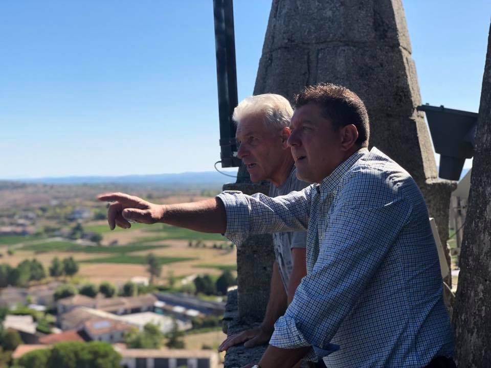 Réunion de travail à Lablachère sur la valorisation du patrimoine communal et sur les infrastructures numériques