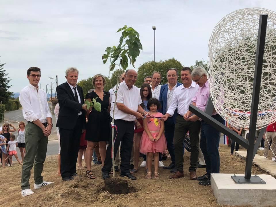 Inaugurations à Lachapelle-sous-Aubenas, en hommage à Olivier de Serres