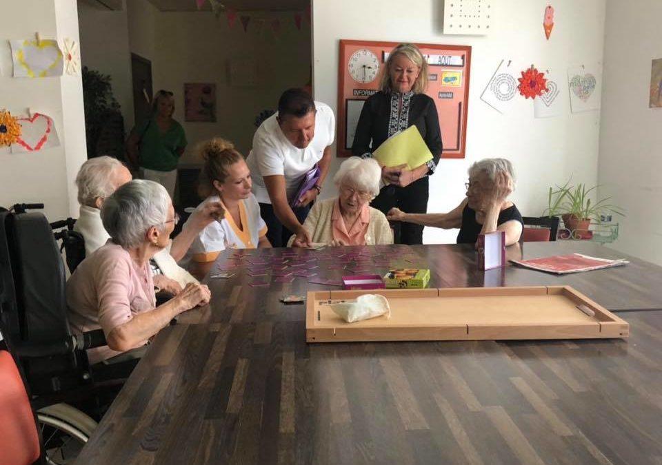 Visite de l'EHPAD du Sandron à Ucel