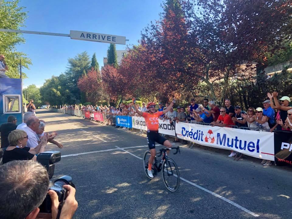 A Aubenas, pour l'arrivée de la première étape du Tour Cycliste Féminin International de l'Ardèche