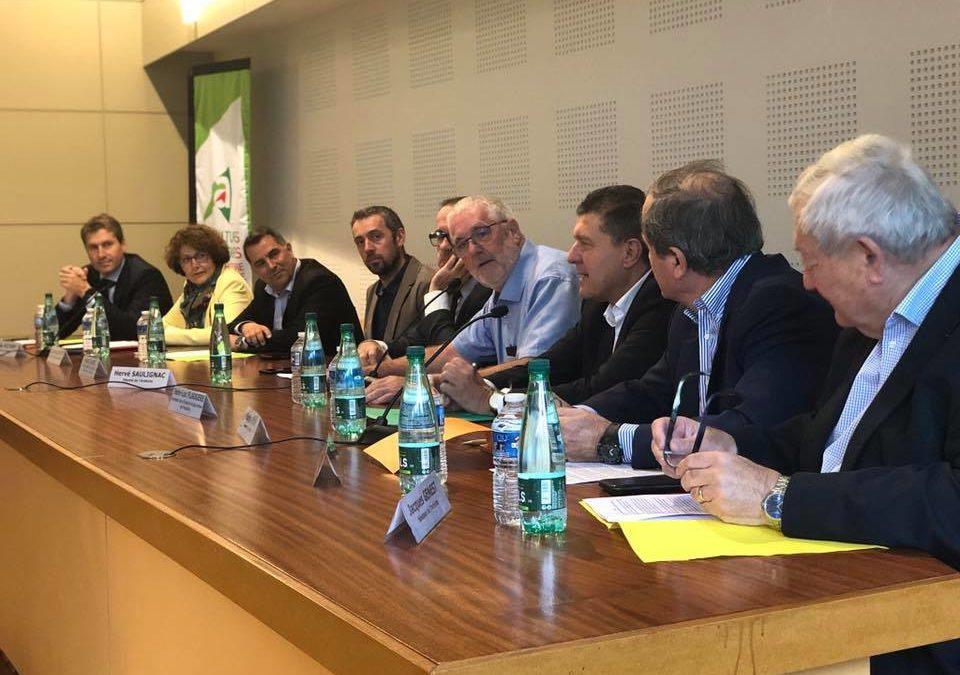 Avec les parlementaires ardéchois pour travailler sur les moyens dévolus à l'accompagnement de nos agriculteurs