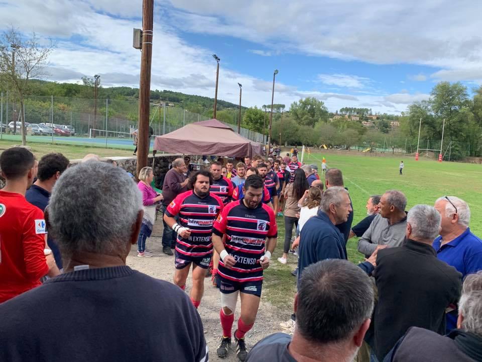 A Joyeuse pour supporter les rugbymans de l'URAM