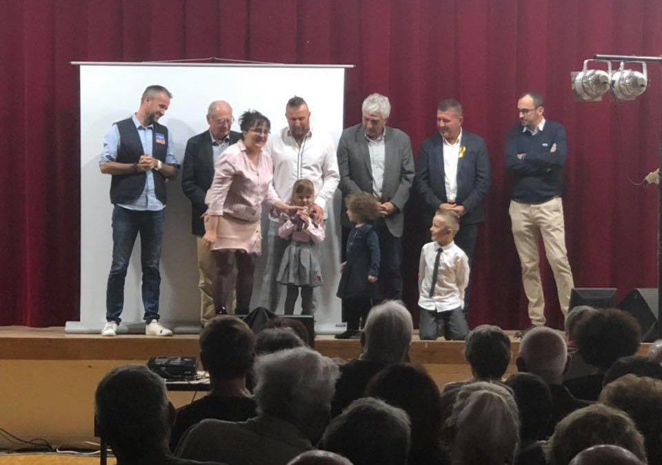 Soirée caritative au profit de la Ligue contre le cancer à Lussas.
