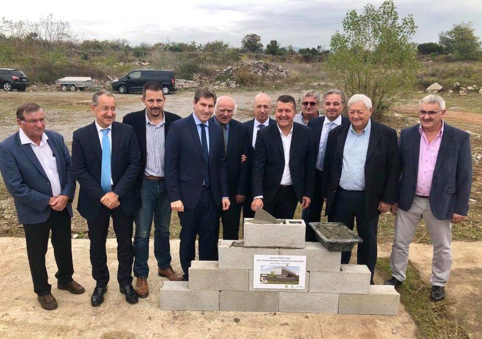 Pose de la première pierre du futur pôle de valorisation énergie et matières à Lavilledieu