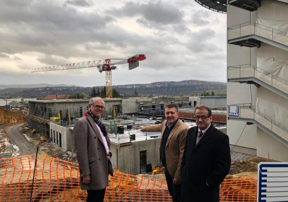 Hôpital d'Aubenas : Visite de chantier