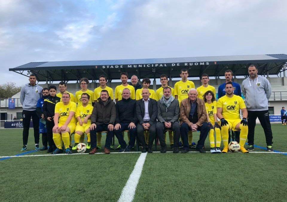 Au tournoi de foot adapté organisé par l'Olympique Ruomsois