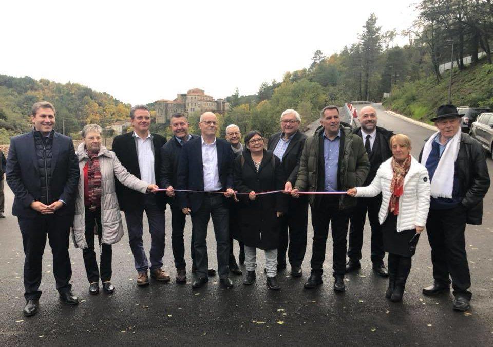 Inauguration de la voie de desserte du quartier Aubesson à Largentière