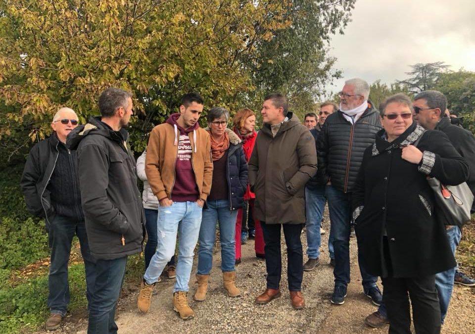 Visites de deux belles exploitations agricoles à Orgnac, chez la famille Cesana et Eric Martin