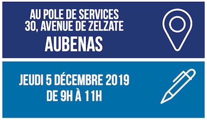 INFO : Permanence mobile au pôle de services d'Aubenas le jeudi 5 décembre de 9h à 11h