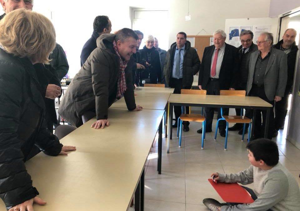 Inauguration de l'extension de l'école de Lussas